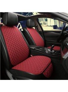 Business Style Plain Pattern PU Leather Universal Fit Car Seat Mat