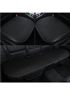 Simple Style Plain Pattern Microfiber Material 3-pieces Car Seat Mat