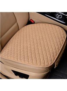 Simple Style Plain Pattern Linen Material 3-pieces Car Seat Mat