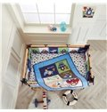 Cartoon Animal Printed 6-Piece Baby Nursery Crib Bedding Sets