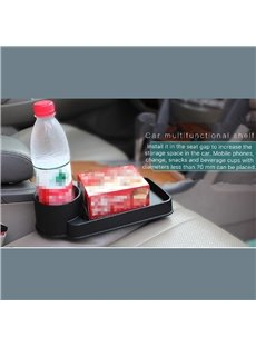 Muti-Use Car Seat Gap Black Plastic Shelf