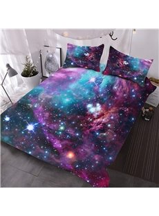 Stars_and_Multicolored_Galaxy_Printed_3D_3Piece_Comforter_Sets