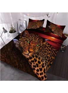 Wild_Leopard_Lying_on_the_Trunk_Digital_Printed_3Piece_3D_Comforter_Sets