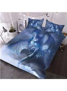 Dragon Opened Wings in Sky Digital Printing 3D 3-Piece Comforter Sets