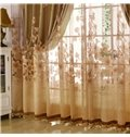 European Style Heat Insulation Feature Jacquard Technics Curtain Sets