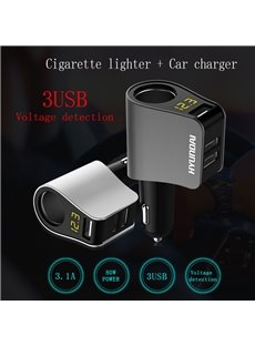 Three-in-one Multi-functional 3USB High-power Phone Charger With Voltage Display