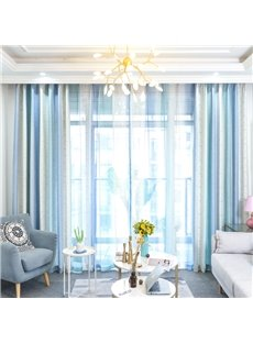 Simple Design Blackout Cotton Material Curtain Sets