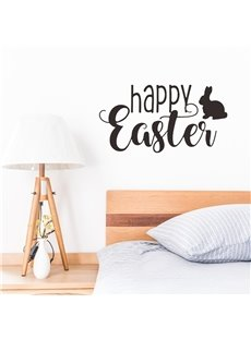 HAPPY EASTER Theme Cute Rabbit Wall Sticker