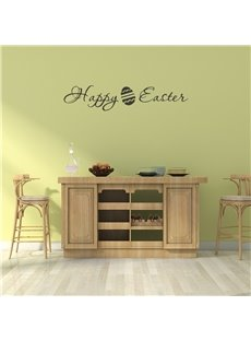 HAPPY EASTER Theme Eggs Wall Stickers