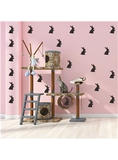 Self-Adhesive Easter Theme Cute Rabbit Wall Sticker