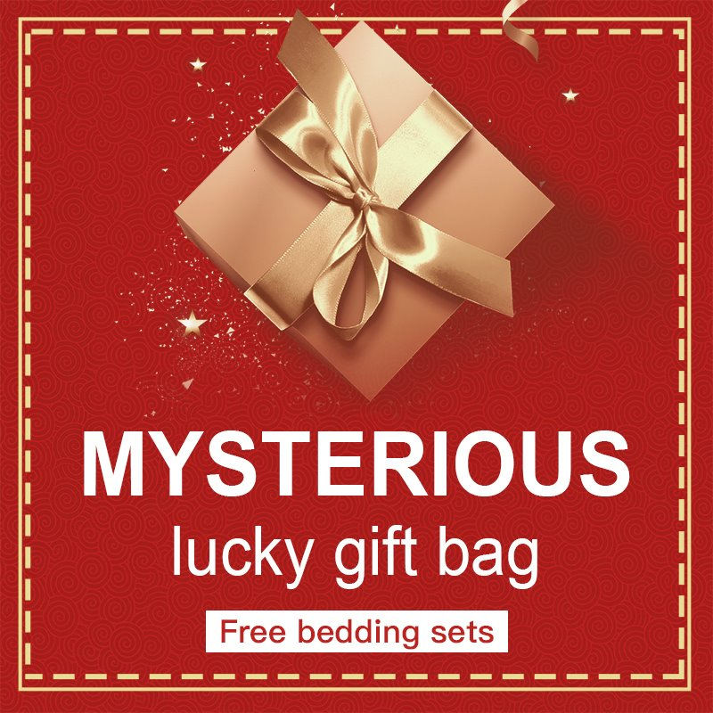 Free Lucky Gift Bag Mysterious Bedding Sets Included Worth at Least $39.99
