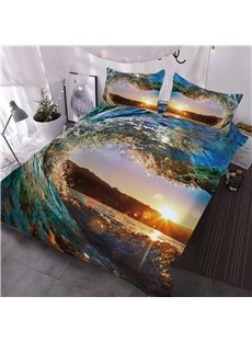 Water_Heartshaped_Sunset_Scenery_Printing_3D_3Piece_Comforter_Sets