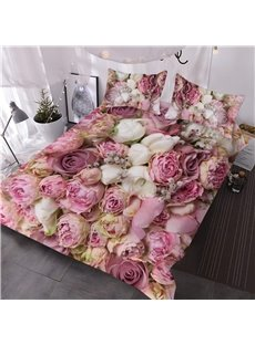 Bouquets_of_Rose_Flowers_Printed_3Piece_3D_Comforter_Sets