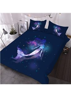 Charming_Galaxy_Mermaid_Printed_3Piece_3D_Comforter_Sets