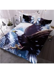 Vivid Flying Eagle on the Ocean Printed 3D 3-Piece Comforter Sets
