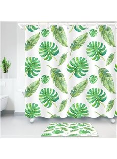 Tropical Banana Leaves Green Printed 3D Bathroom Shower Curtain