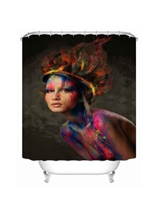 Beauty with Camouflage 3D Printed Bathroom Shower Curtain