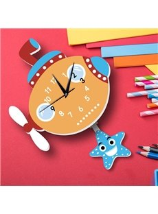 3D Cute Non-Ticking Quiet Kids Room Wall Clock