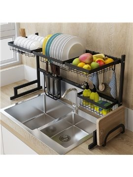 Convenient Stainless Steel Wired Water Dishes Kitchenware Storage Rack