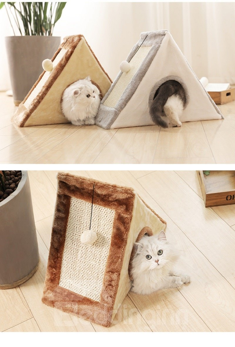 Tower with Scratching Board Creating Secutrity and Fun Pet Cat Bed