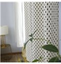 Shading Small fir tree Printed Grommet Top Custom Curtain
