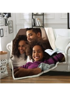 Custom Photo with Your Own Printing Personalized Double-Deck Blanket