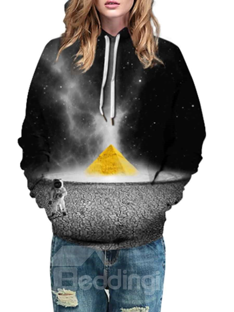 Soft Long Sleeve Dream Pattern 3D Painted Hoodie