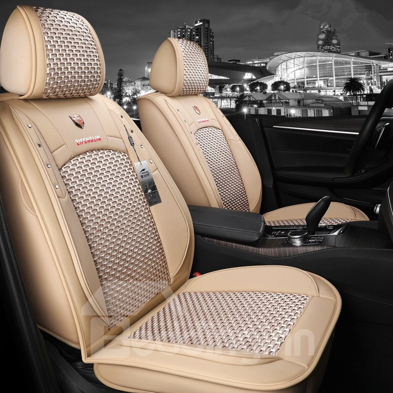 Modern Ice Silk Plain Pattern Truck Seat Cover Pic