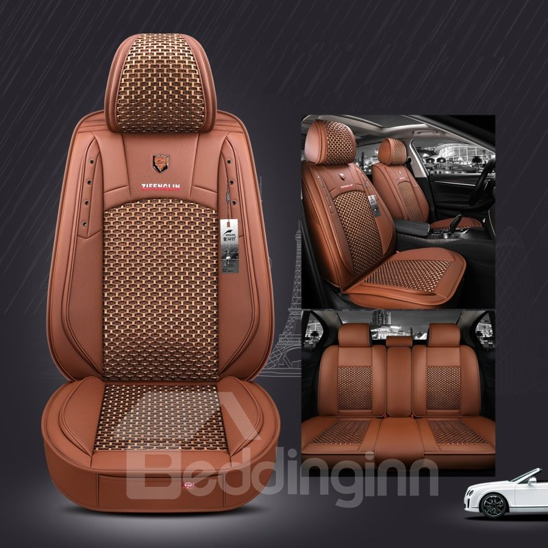 Modern Style Ice Silk Material Plain Pattern Truck Seat Cover