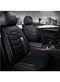 5-Seater Wear Resistant Durable Unfading Man-Made Leather Business Style Plain Pattern Truck/ Car Seat Cover