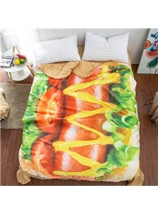 Hot Dog Food Shaped 3D Washable Light Summer Quilt