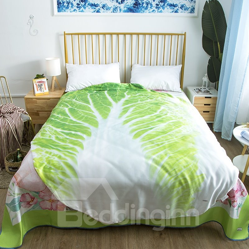 Cabbage Shaped Summer Quilt Cute Comforter Washable Light Quilt