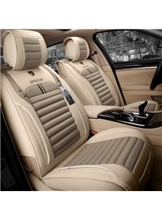 Business Style Plain Pattern Linen Material Universal Car Seat Cover