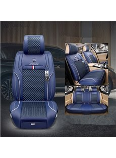 Modern Style Color Block Ice Silk Universal Car Seat Cover