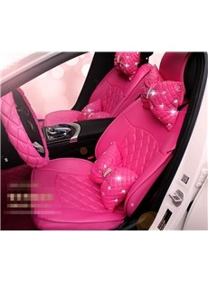 Princess Style Color Block Leather Custom Car Seat Cover