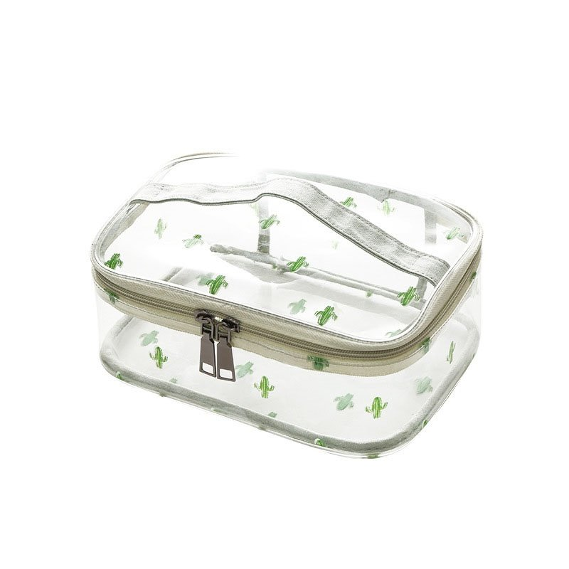 PVC Translucent Large Capacity Portable Travel Cosmetic Bag
