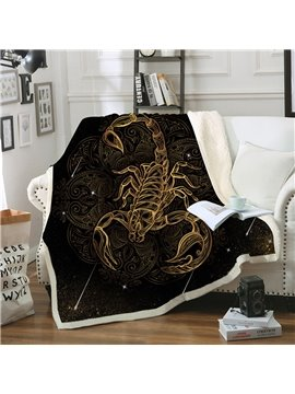 Skin Friendly Portable Double Thickened Cotton Velvet Warm Blankets
