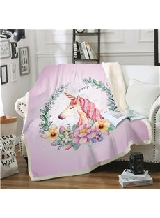 Multifunctional Soft and Comfortable Unique Unicorn Printed Warm Blankets