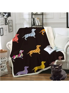 Portable And Hard-wearing Crystal Velvet Double Thickened Warm Blankets