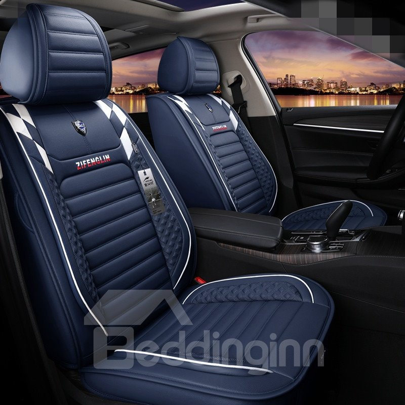 Sport Color Block Pvc Leather Universal Car Seat Cover Pic