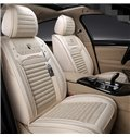 Business Style Color Block Linen Material Universal Car Seat Cover