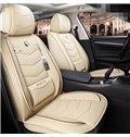 Simple Style Plain Pattern PVC Leather Universal Car Seat Cover