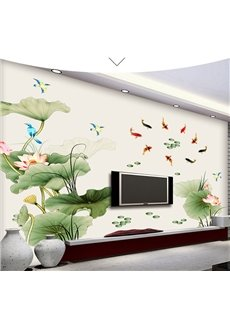 Self-adhesive Flower Pattern Corridor Bedding Room Home Decor Wall Sticker