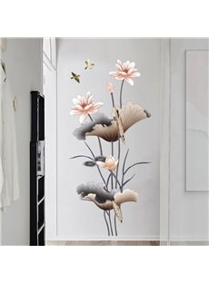 Waterproof Flower Pattern Corridor Bedding Room Home Decor Wall Sticker