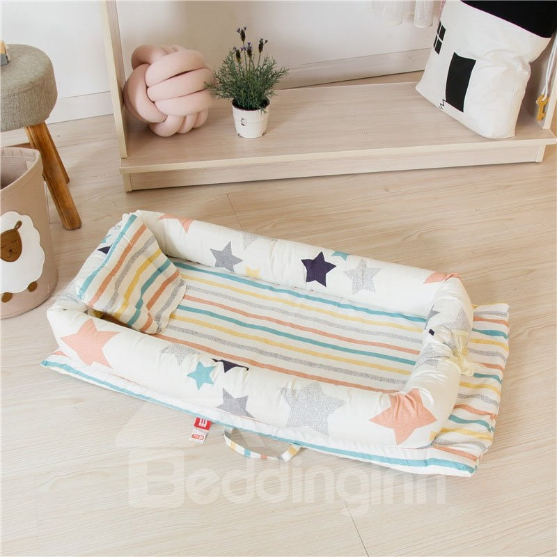 Medium-sized Portable Zoo Printed Baby Bionic Bed