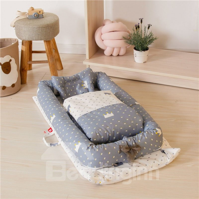 Medium-sized Portable Cute Animal Printed Baby Bionic Bed