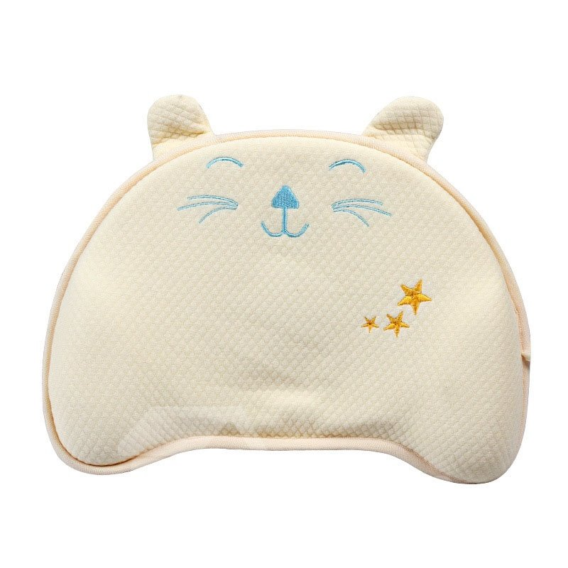 Breathable And No Fluorescent Agent Cat printed Baby Styling Pillow