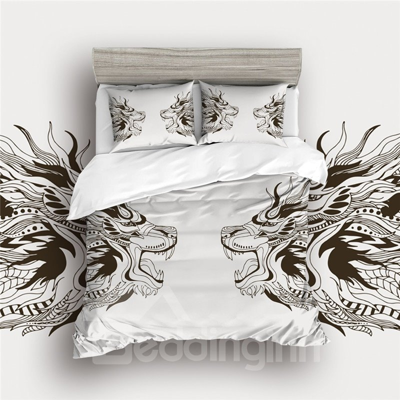 Light And Fluffy Percale Digital Printed 4-Piece Bedding Sets