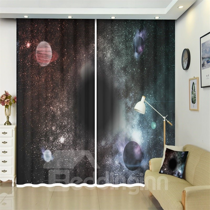 Blanets and Black Holes Astronomical Objects 3D Curtains