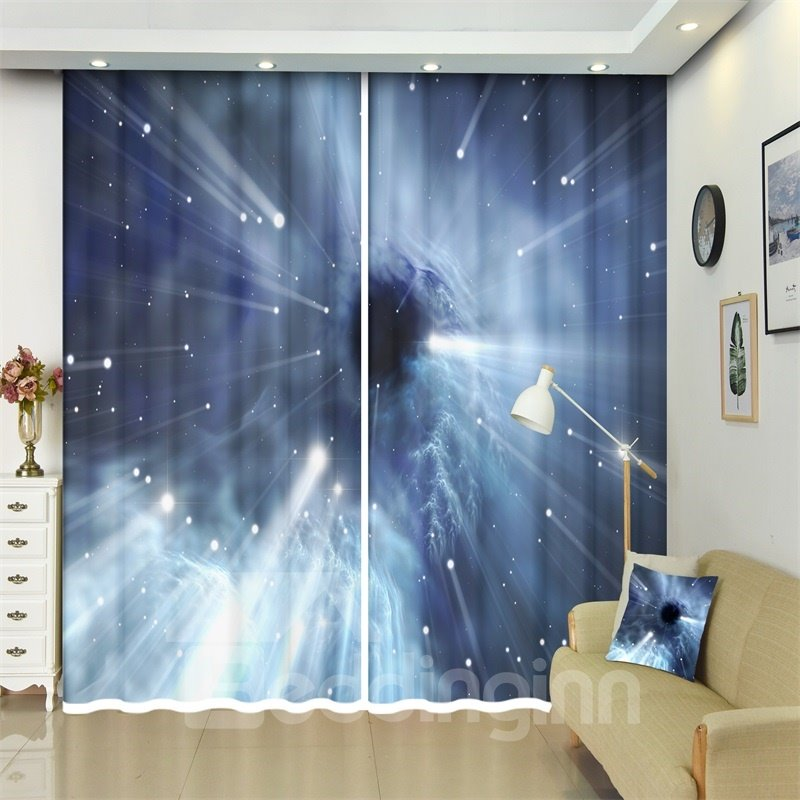 The Galaxy and Black Holes Astronomical Objects 3D Blackout Curtains